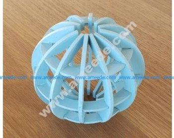 Gridded globe laser cut
