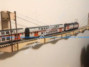 HO Scale wall mount bridge – Laser Cut