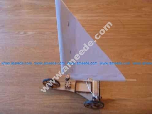 Laser cut land yacht
