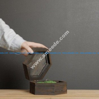 Laser cut wood box