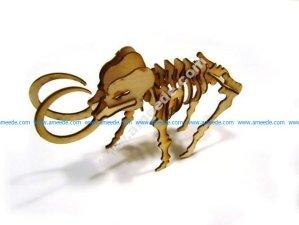 LaserCut – 3D Puzzle Mammoth