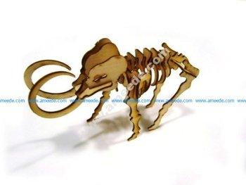 LaserCut - 3D Puzzle Mammoth