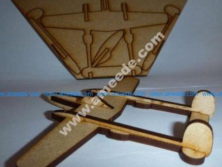 Lasercut P38 Lightning