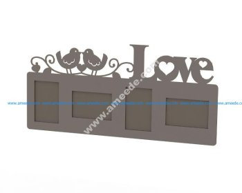 Love Frame Laser Cut