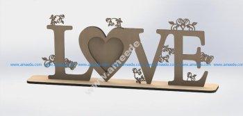Love Heart Laser Cut
