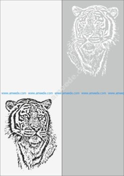 Sandblast Pattern Tiger