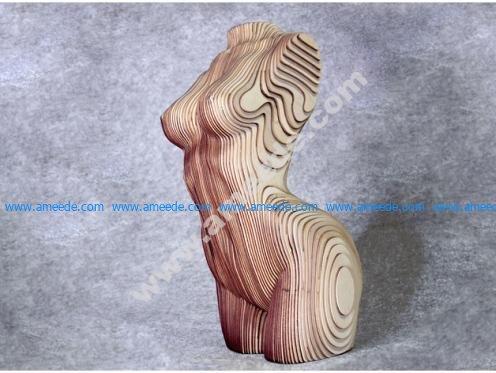 Sliced Woman Torso - DIY Plywood Craft