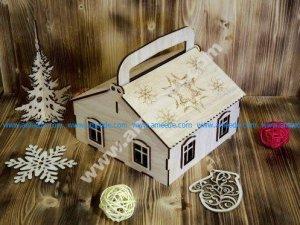 laser cut house models