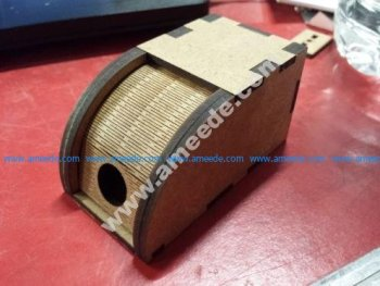 rolling top wooden box