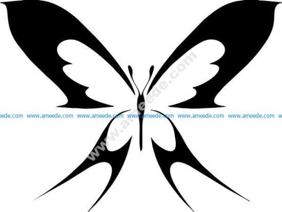 Simple butterfly outline tattoo