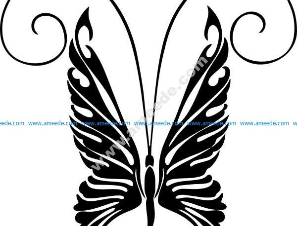 Butterfly stencils snowflake patterns