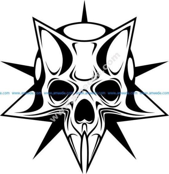 Cyber skull in the stars