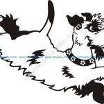 Small Dog Running Stock Illustrations