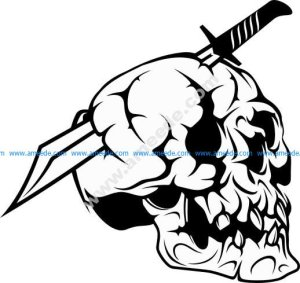 Pirate Skull in with Sword vector