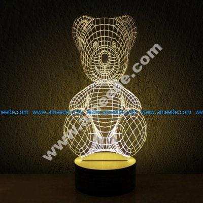 Teddy bear 3d illusion lamp