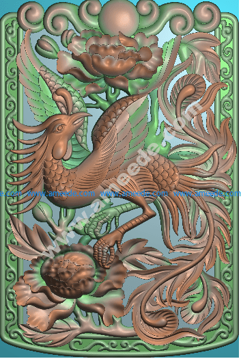 3d phoenix engraving model