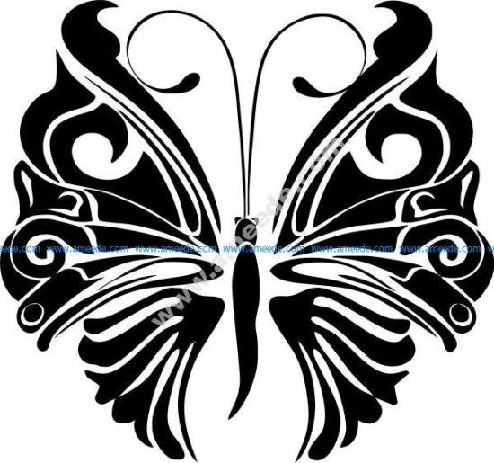 Butterfly wings monochrome vinta