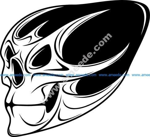Demon scary Skull isolated on white background