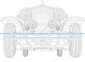 Car 3d Illusion Lamp Vector