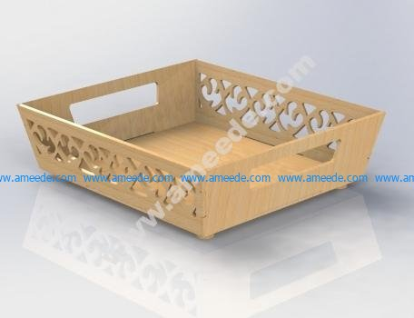 Floral Tray Laser Cut