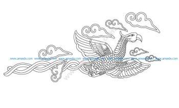 Flying phoenix vector