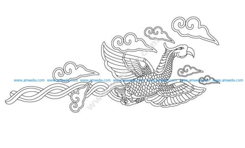 Flying phoenix vector