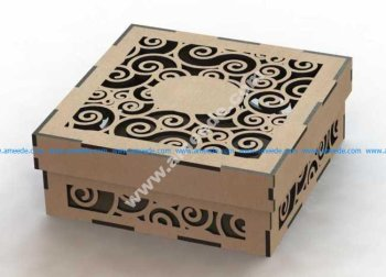 Laser Cut Wood Box Template