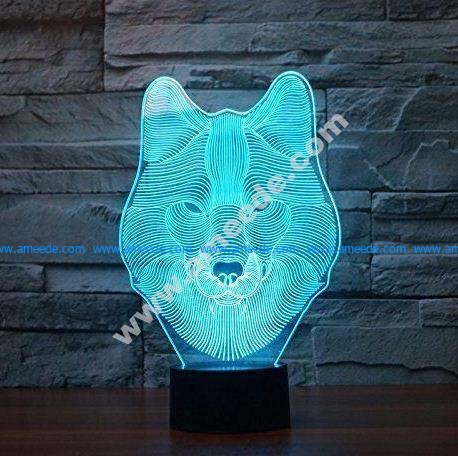 Wolf 3d Lamp LED Night Light