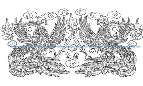 phoenix pattern from the Le dynasty