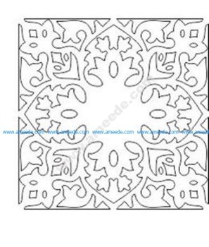 pattern vector cnc carvings 2D1