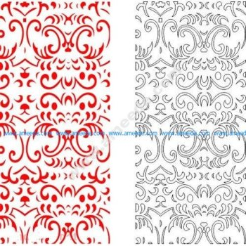 pattern vector cnc carvings 2D12