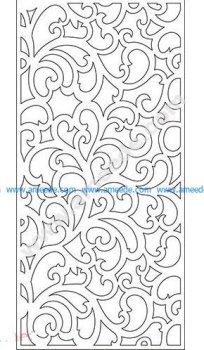pattern vector cnc carvings 2D23