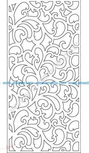 pattern vector cnc carvings 2D23