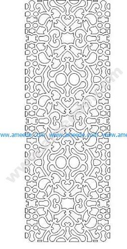 pattern vector cnc carvings 2D5