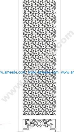 pattern vector cnc carvings 2D8