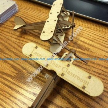 Bi Plane Laser Cut Wood Model (KIT)