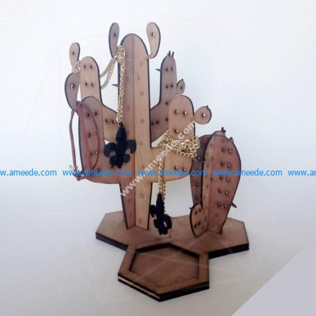Cactus Jewelry Ring Holder Stand