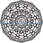 Delicate rosette pattern