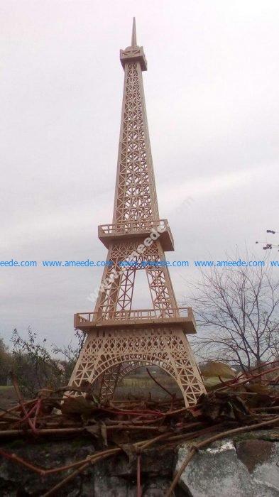 Eiffel Tower 3d Laser Cut Template