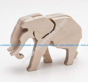 Elephant pattern puzzle pieces