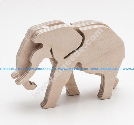 Elephant pattern puzzle pieces