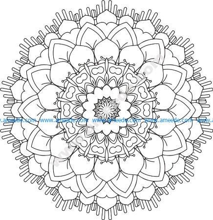 Floral Mandala Design Free Vector