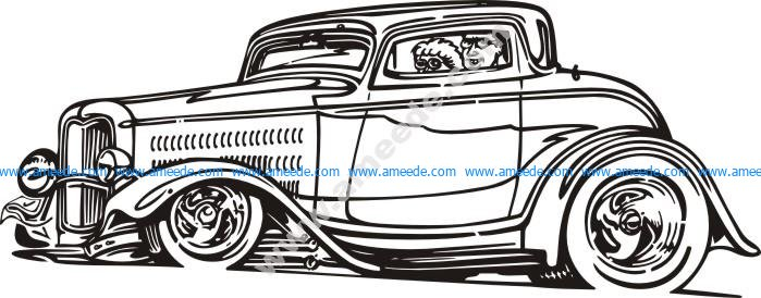 German classic car