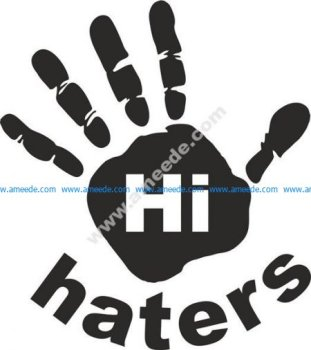 Hi Haters Decal Free Vector