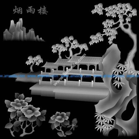 Landscape 3D Grayscale Image BMP