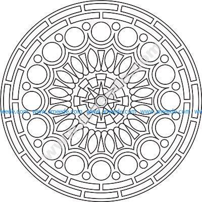 Mandala Des Round EPS File