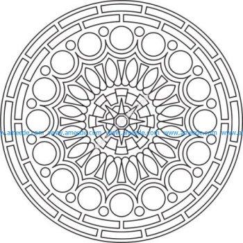 Mandala Des Round