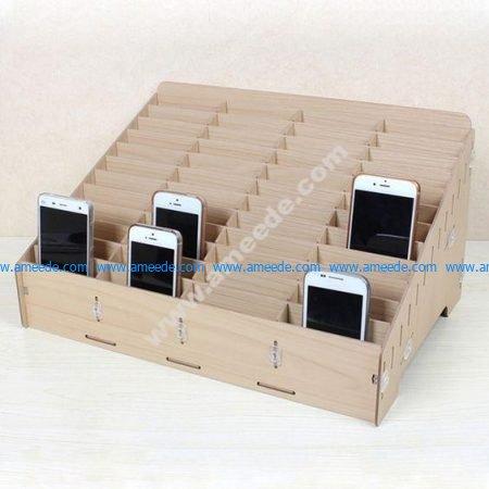 Mdf Mobile Phone Store Rack Laser Cut