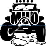 Mud Offroad Sticker Free Vector