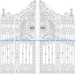 Port gates cut CNC gorgeous DXF file